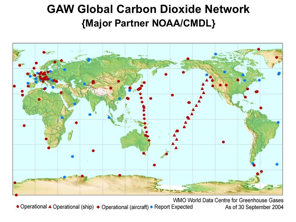 GAW Global Carbon Dioxide Network {Major Partner NOAA/CMDL}