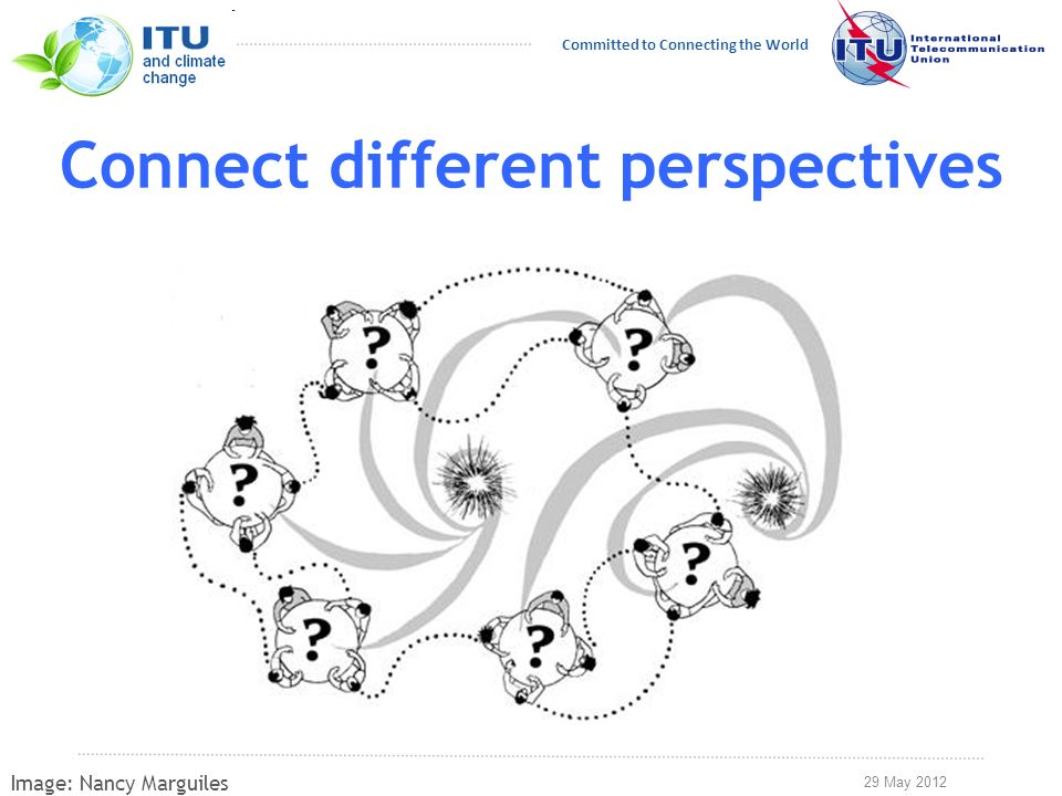 29 May 2012 Committed to Connecting the World Connect different perspectives Image: Nancy Marguiles
