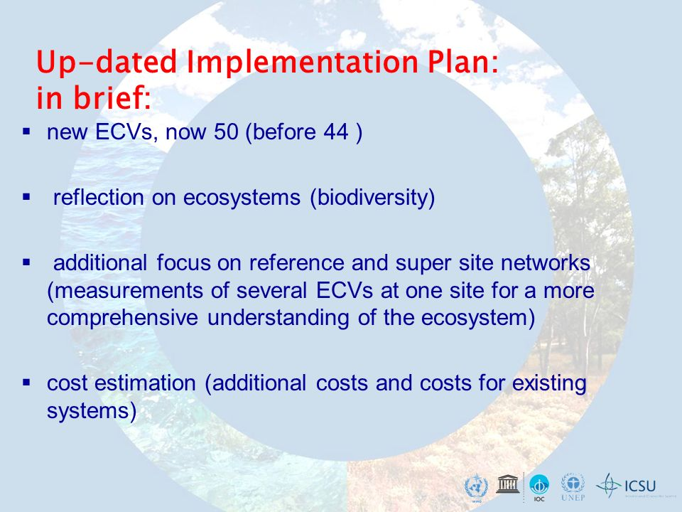 Global Climate Observing System (GCOS) Climate- sensitive Sectors Prediction & Information IPCC UNFCCC AdaptationMitigation World Climate Research Programme (WCRP) Interface GCOS as building block: Global Framework for Climate Service – GFCS as the major outcome of the WCC-3, 2009.