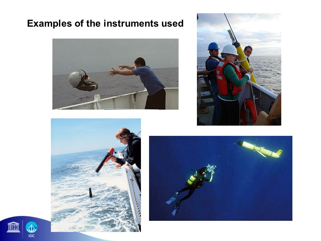 Examples of the instruments used