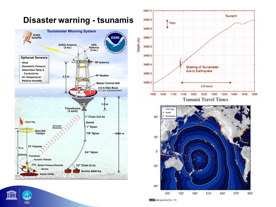 Disaster warning - tsunamis