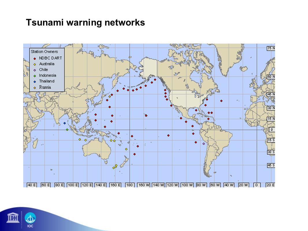 Tsunami warning networks