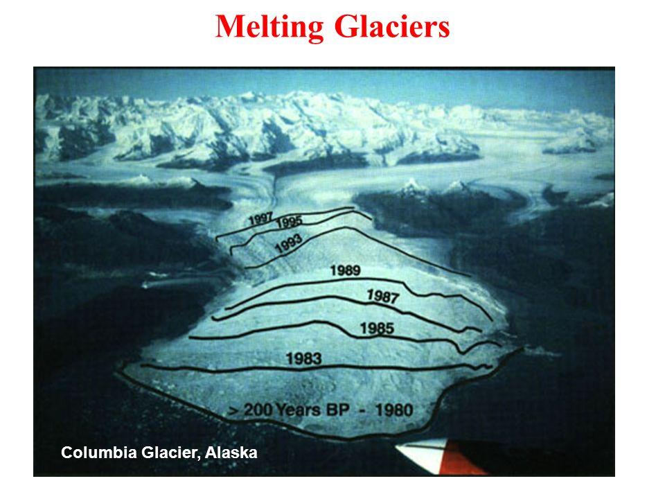 Melting Glaciers Columbia Glacier, Alaska