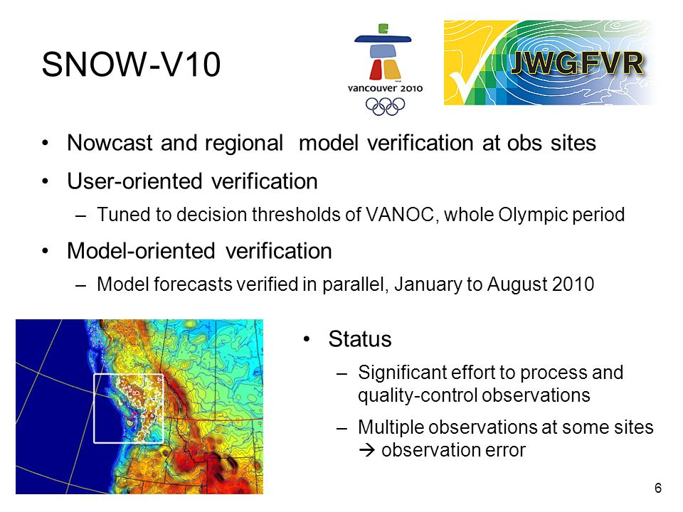 17 Outreach and training Verification workshops and tutorials –On-site, travelling EUMETCAL training modules Verification web page Sharing of tools http://www.cawcr.gov.au/projects/verification/