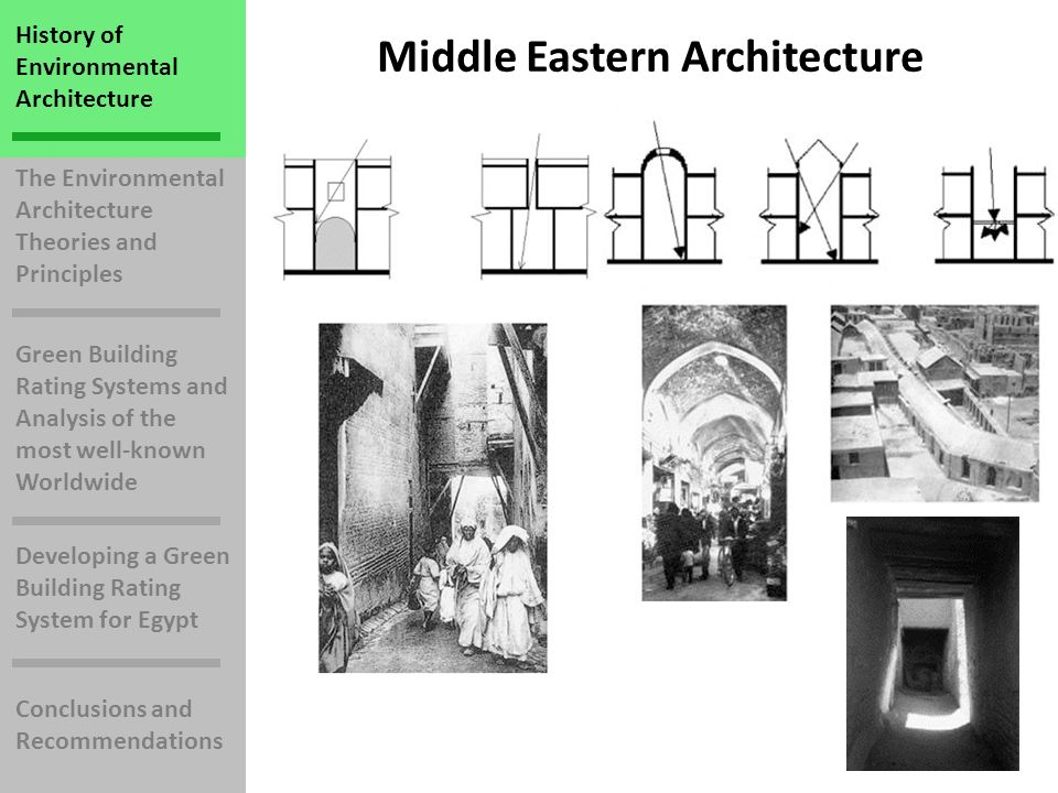 History of Environmental Architecture The Environmental Architecture Theories and Principles Green Building Rating Systems and Analysis of the most well-known Worldwide Developing a Green Building Rating System for Egypt Conclusions and Recommendations 3-Energy and Atmosphere 35 Possible Points Commissioning of the Building Energy Systems Energy Performance Refrigerant Management On-Site Renewable Energy Measurement & Verification Green Power
