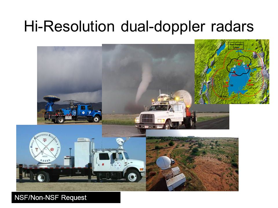 Hi-Resolution dual-doppler radars NSF/Non-NSF Request