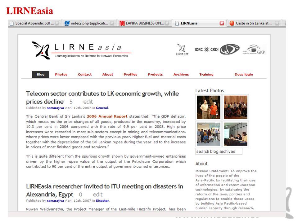 www.lirneasia.net LIRNEasia