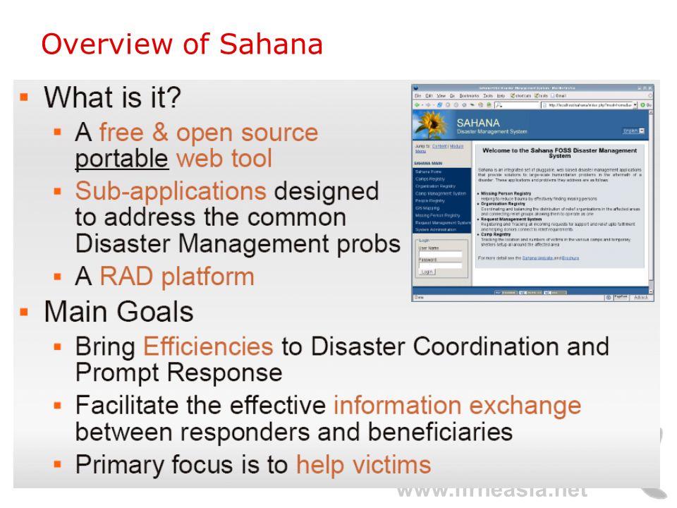 www.lirneasia.net Overview of Sahana