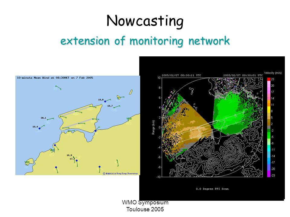 WMO Symposium Toulouse 2005 Nowcasting extension of monitoring network