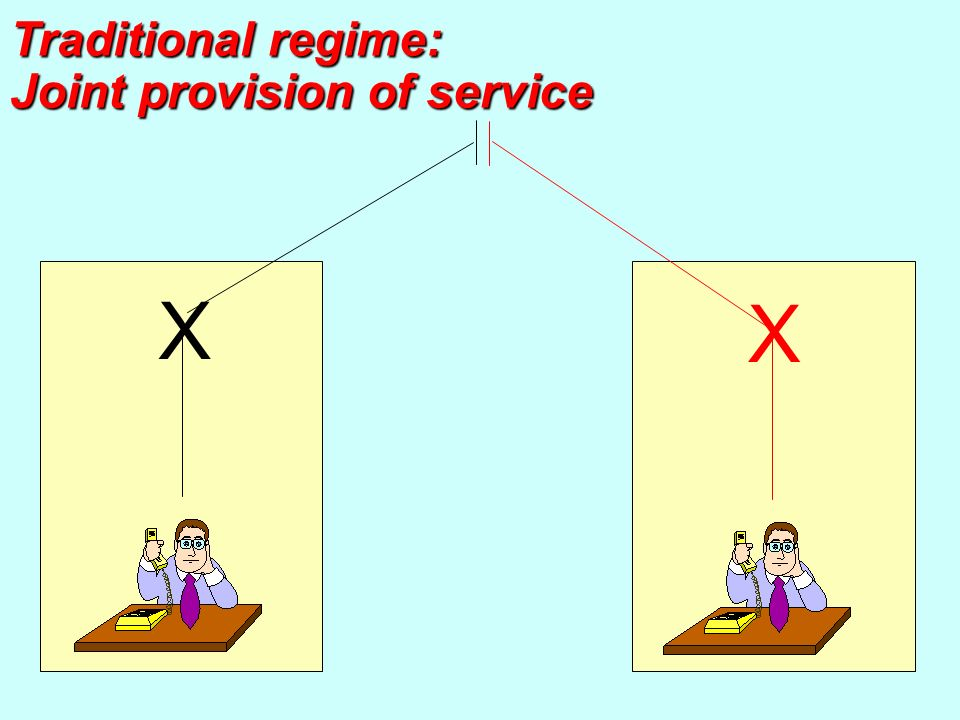 X X Traditional regime: Joint provision of service