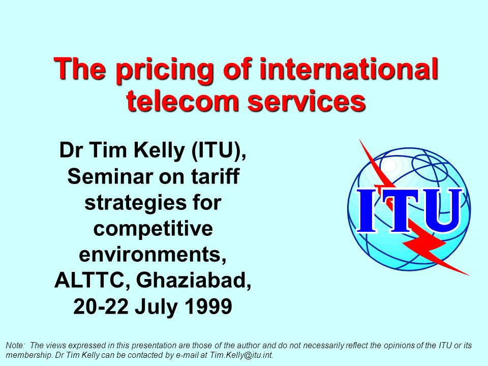 2 Reducing the price of international calls Agenda Whats the problem.