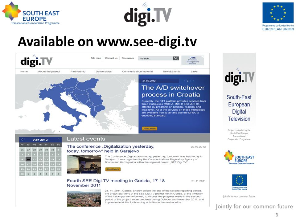 Terrestrial platform in the SEE region Terrestrial television platform remains one of the most important television delivery platforms in South East Europe Limited spectrum: Broadcasting / Mobile Services More efficient use of spectrum DVB-T2 - Long Term Evolution in broadcasting?