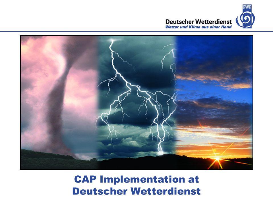 CAP Implementation at Deutscher Wetterdienst