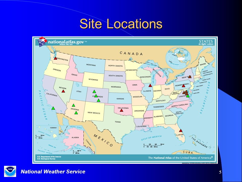 National Weather Service 5 Site Locations