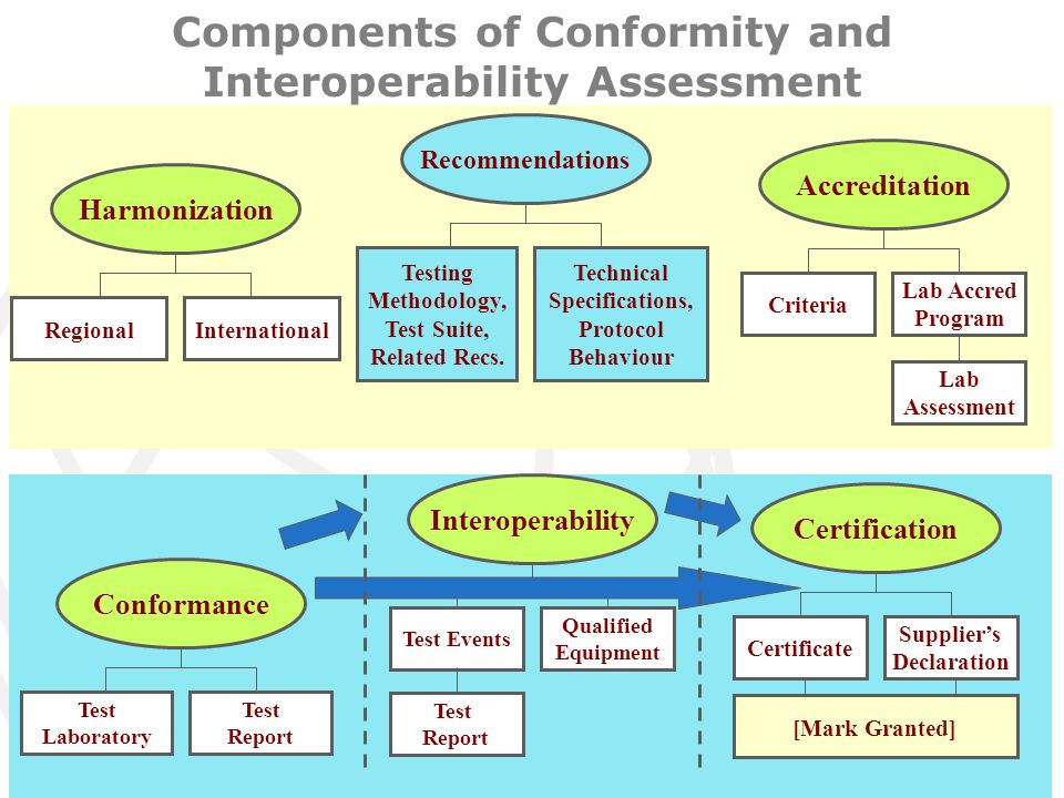 Committed to connecting the world WSIS, Geneva, 18-22 May 2009 12 Components of Conformity and Interoperability Assessment Recommendations Testing Methodology, Test Suite, Related Recs.