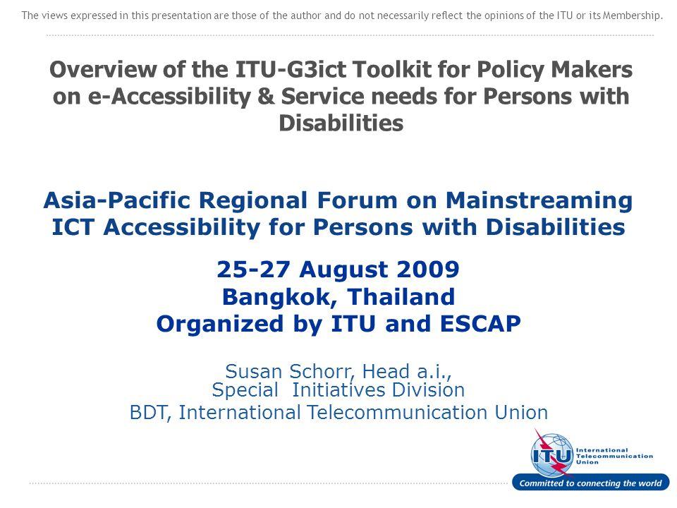 2 Agenda 1.Introducing ITU 2. Mission of ITU-D 3.