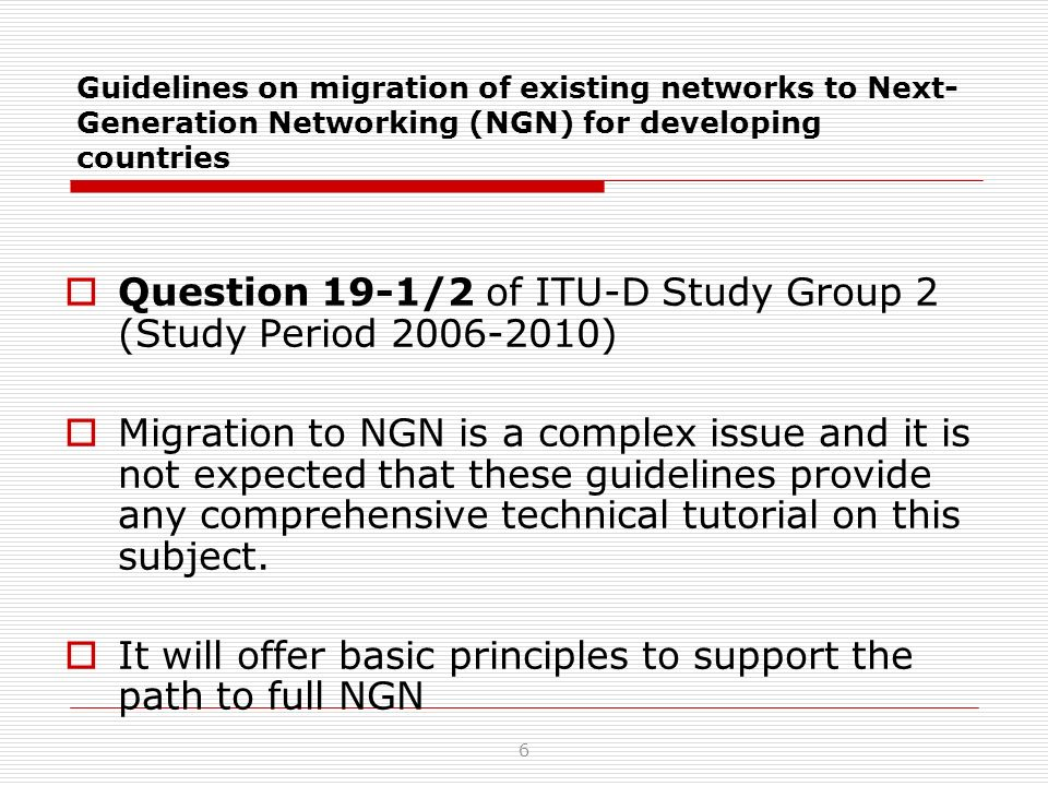 OVERLAY SCENARIOO NGN will be deployed and operate jointly with PSTN/ISDN.