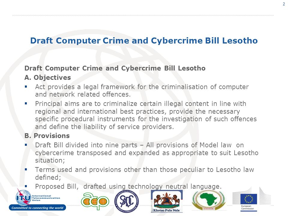 Draft Computer Crime and Cybercrime Bill Lesotho A.