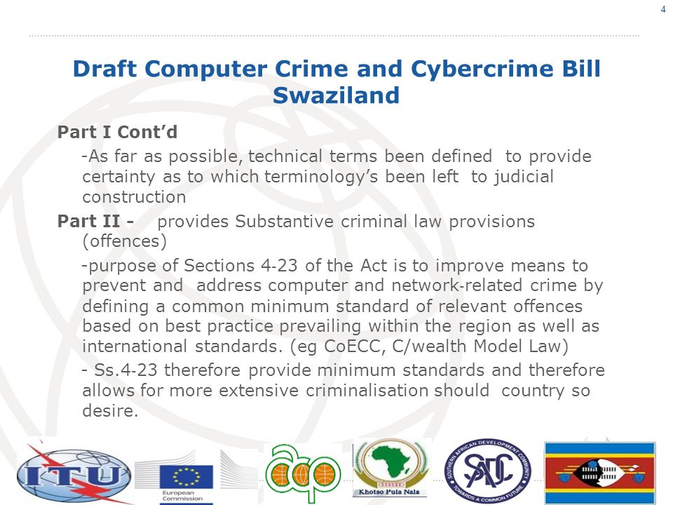 Draft Computer Crime and Cybercrime Bill Swaziland 12.Child Pornography 13.Pornography 14.Identity-related crimes 15.Racist and Xenophobic Material 16.Racist and Xenophobic Motivated Insult 17.Denial of Genocide and Crimes Again Humanity 18.SPAM 19.Disclosure of details of an investigation 20.Failure to permit assistance 21.Harassment utilizing means of electronic communication 15