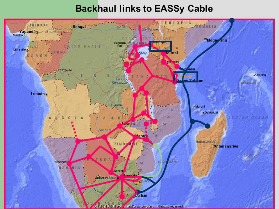 Zanzibar Malaba Backhaul links to EASSy Cable