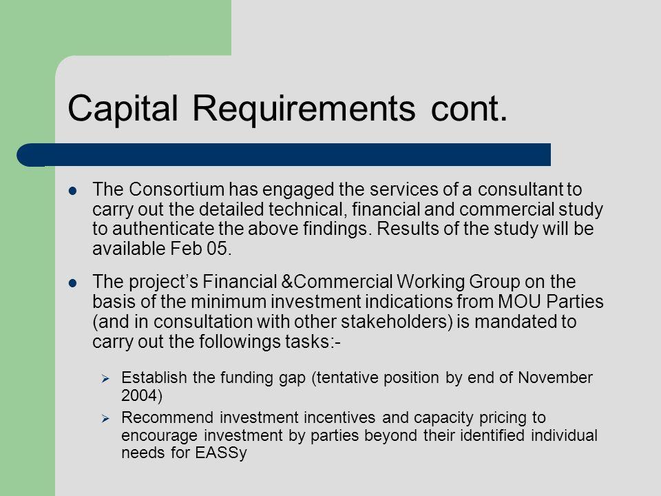 Capital Requirements cont.