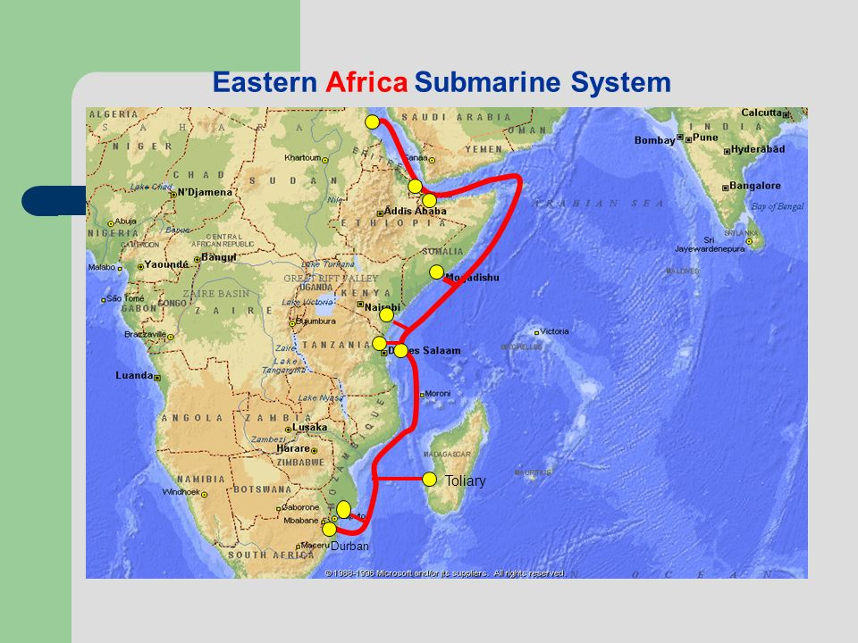 Eastern Africa Submarine System Toliary Durban