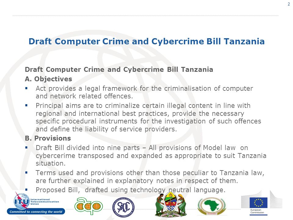 Draft Computer Crime and Cybercrime Bill Tanzania A.