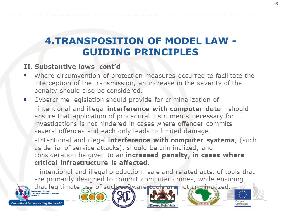 4.TRANSPOSITION OF MODEL LAW - GUIDING PRINCIPLES II.