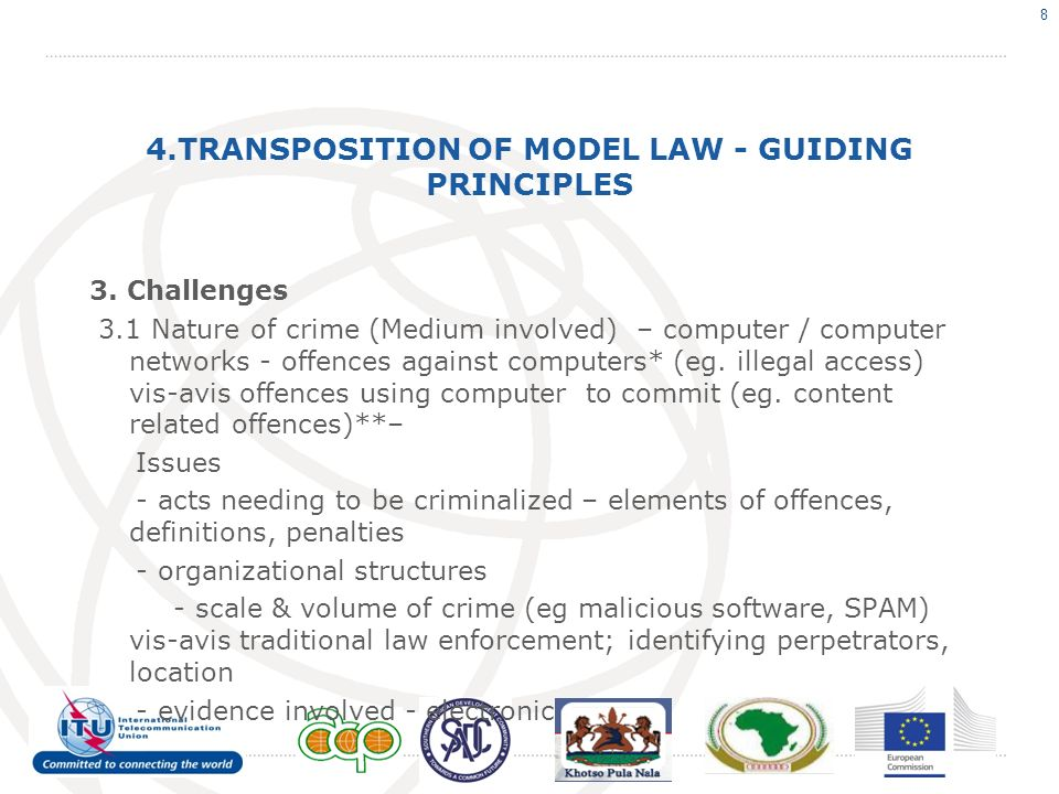 4.TRANSPOSITION OF MODEL LAW - GUIDING PRINCIPLES 3.