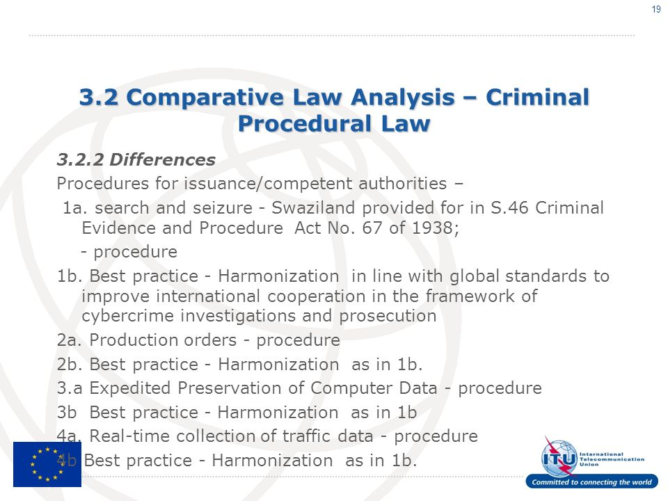 3.2 Comparative Law Analysis – Criminal Procedural Law Differences Procedures for issuance/competent authorities – 1a.