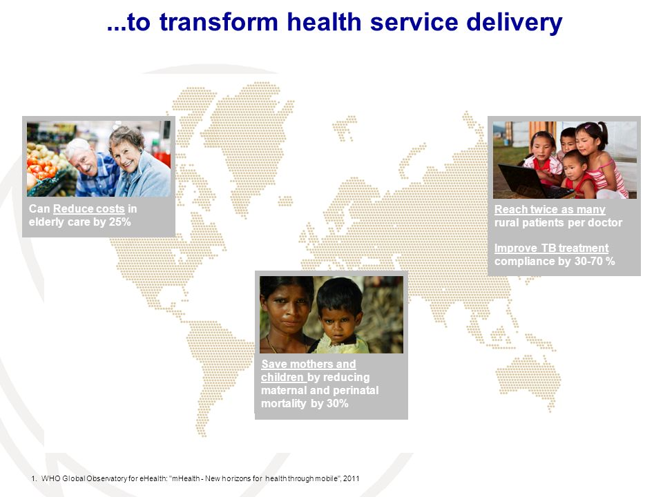 ...to transform health service delivery 1.