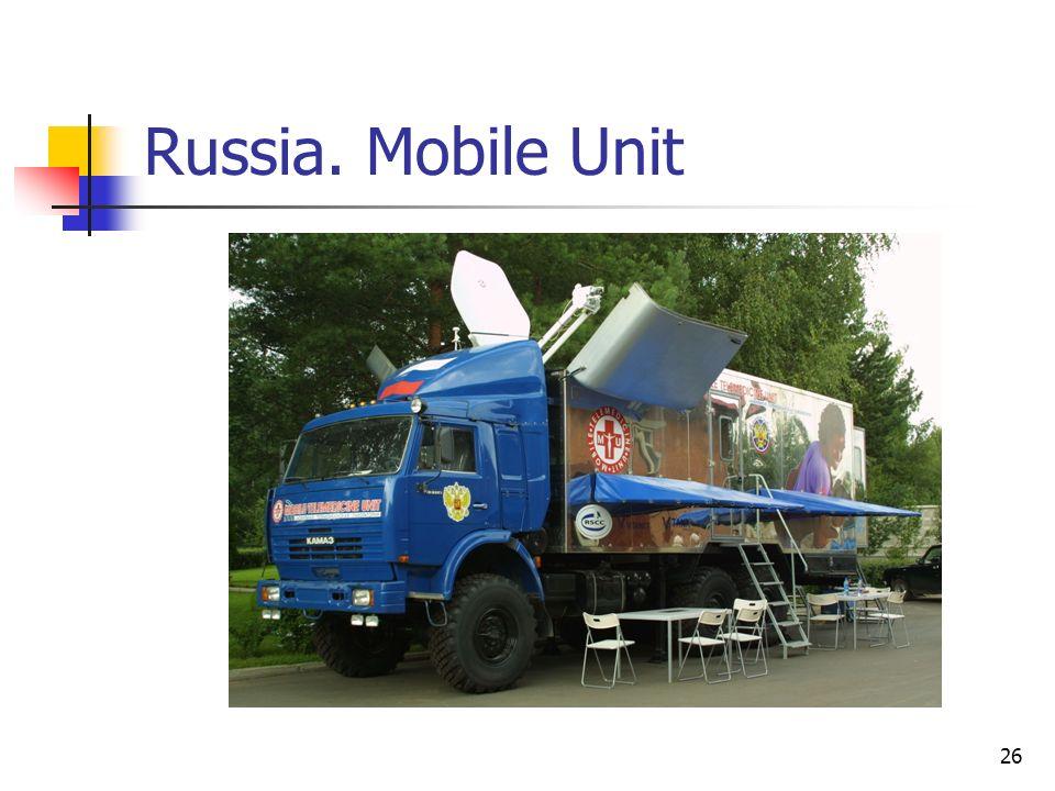 26 Russia. Mobile Unit