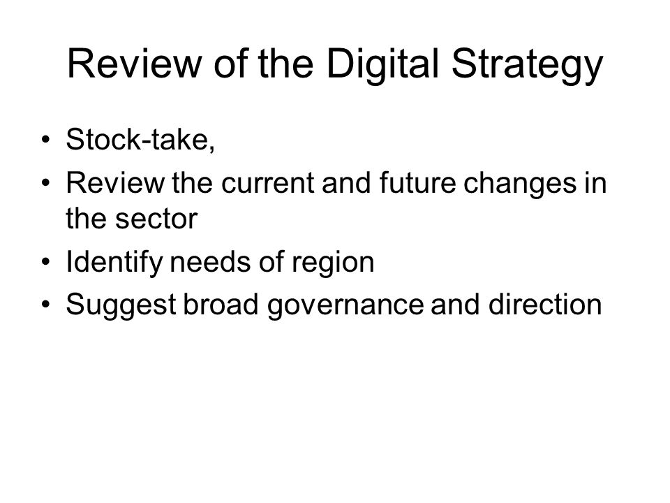 Roadmap for Review TOR, selection, interaction, draft –Q1 2010 Review, discussion, acceptance –Q2-3 2010 Moulding a truly regional framework –5 years