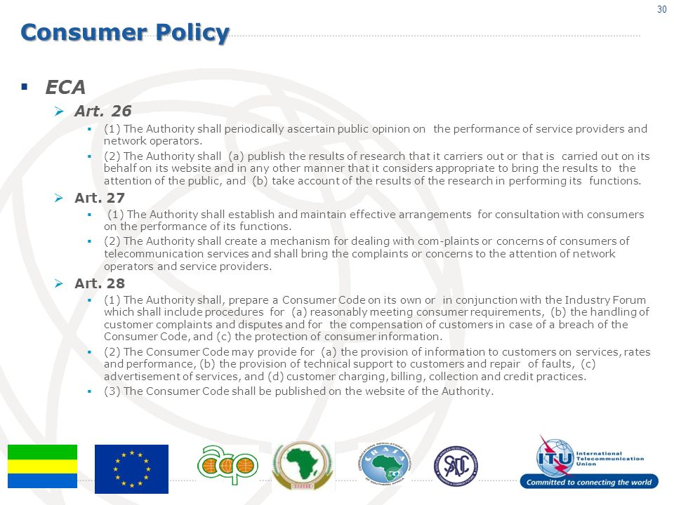 Consumer Policy ECA Art.