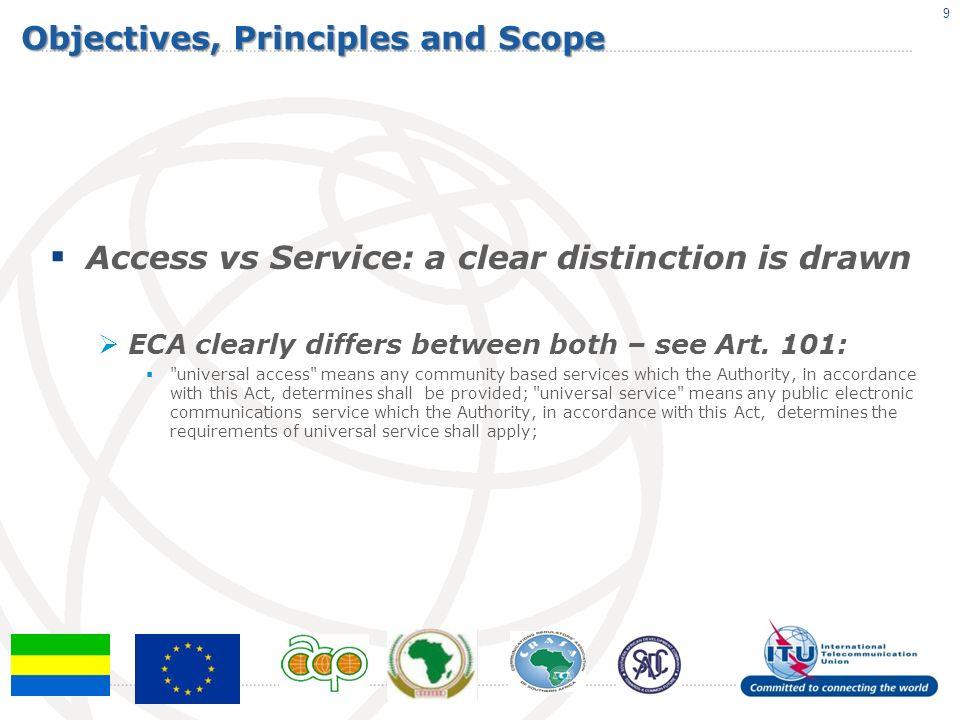 Financing of UAS Disbursement from the Fund ECA Art.