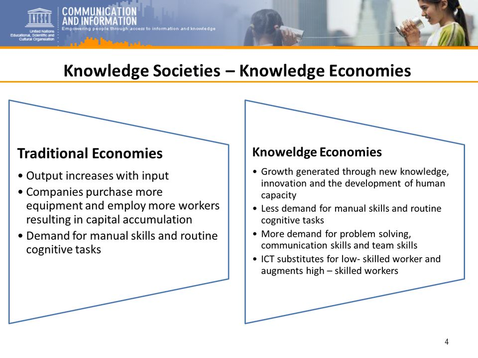 Knowledge Societies – Knowledge Economies 4