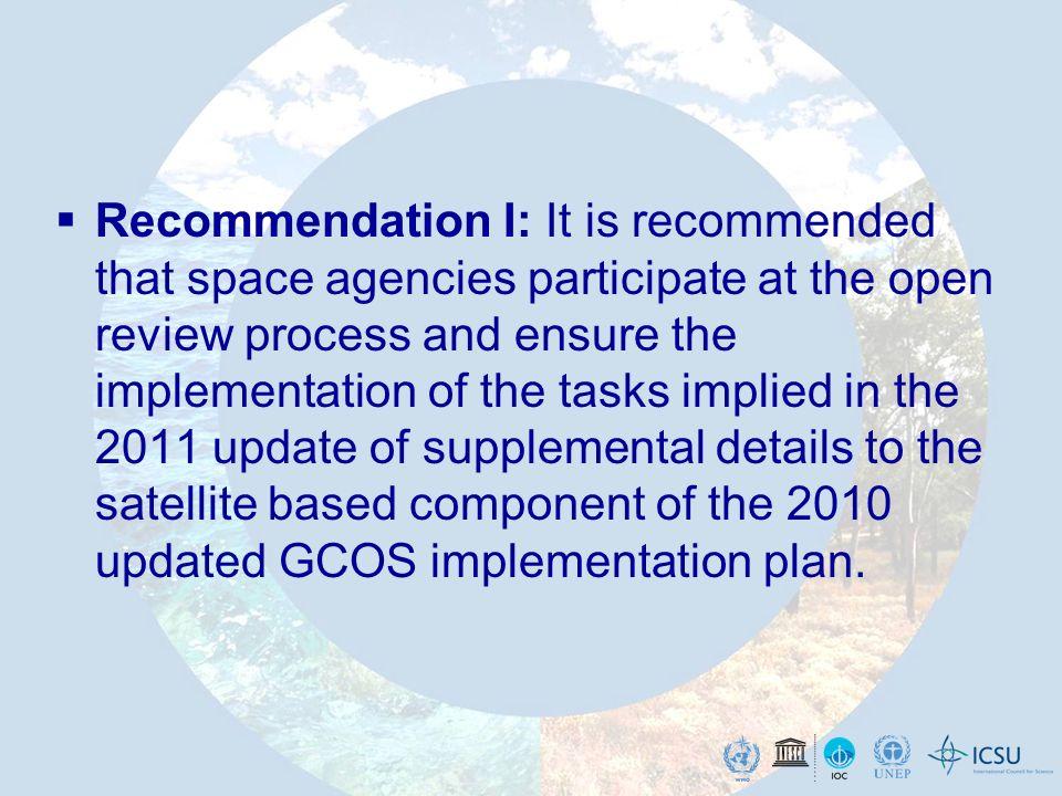 GCOS Implementation – Regional