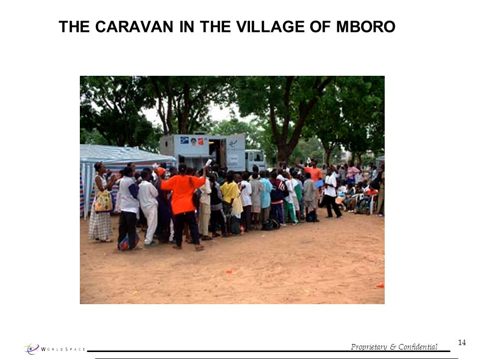 Proprietary & Confidential 14 THE CARAVAN IN THE VILLAGE OF MBORO