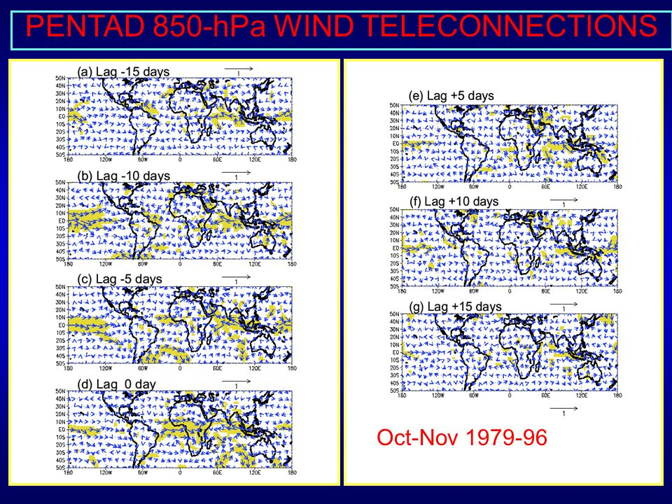 OND TELECONNECTIONS WITH SEPTEMBER SST REOF2, 1974-96