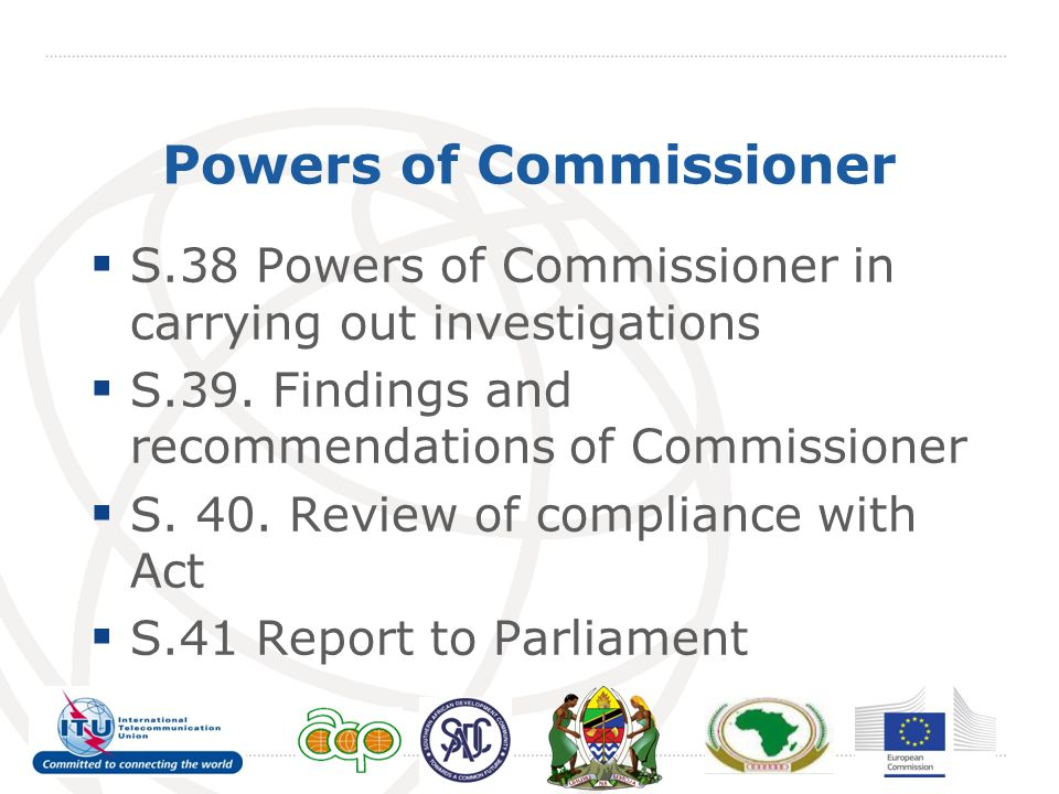 Powers of Commissioner S.38 Powers of Commissioner in carrying out investigations S.39.