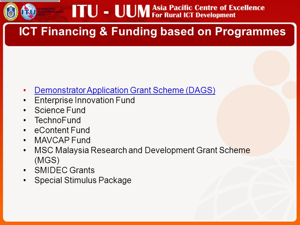 Funding Allocation for ICT - Public