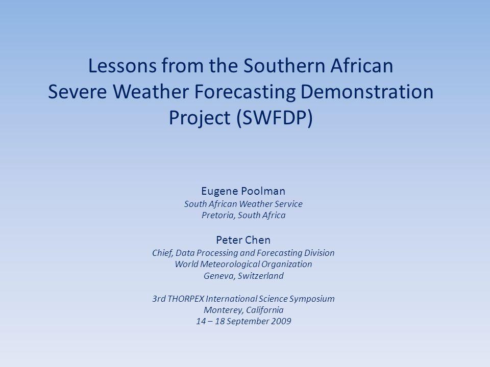 Concepts of SWFDP 2