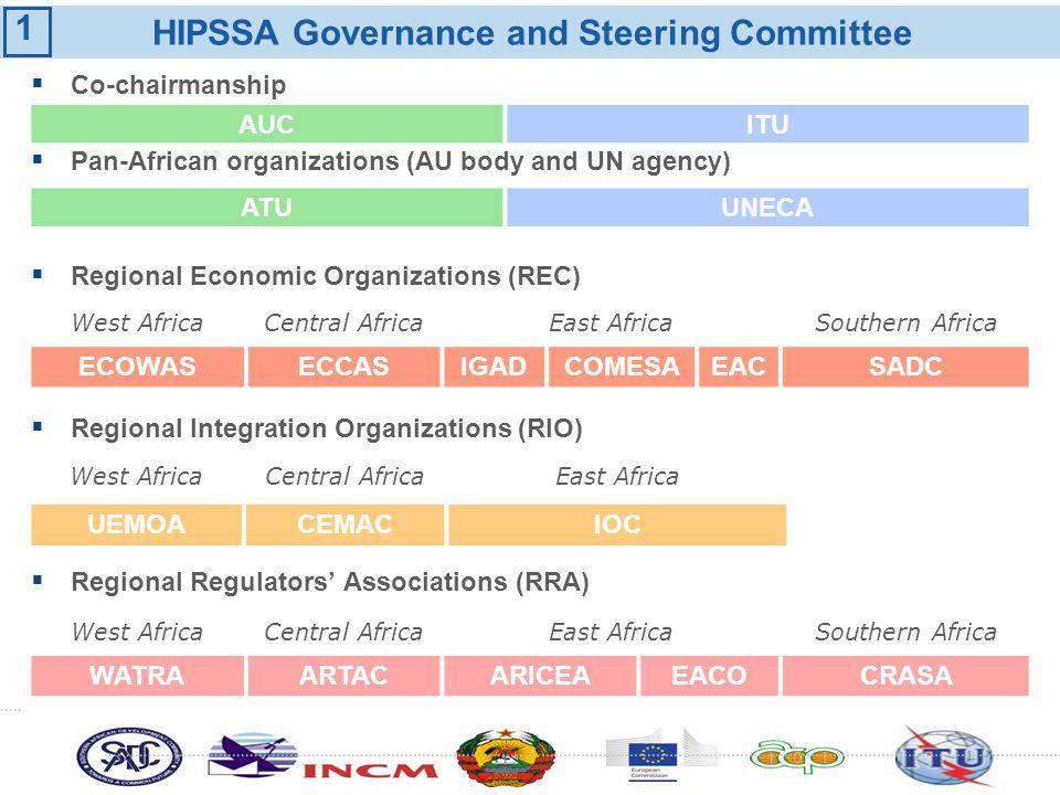 Co-chairmanship Pan-African organizations (AU body and UN agency) Regional Economic Organizations (REC) Regional Integration Organizations (RIO) Regio