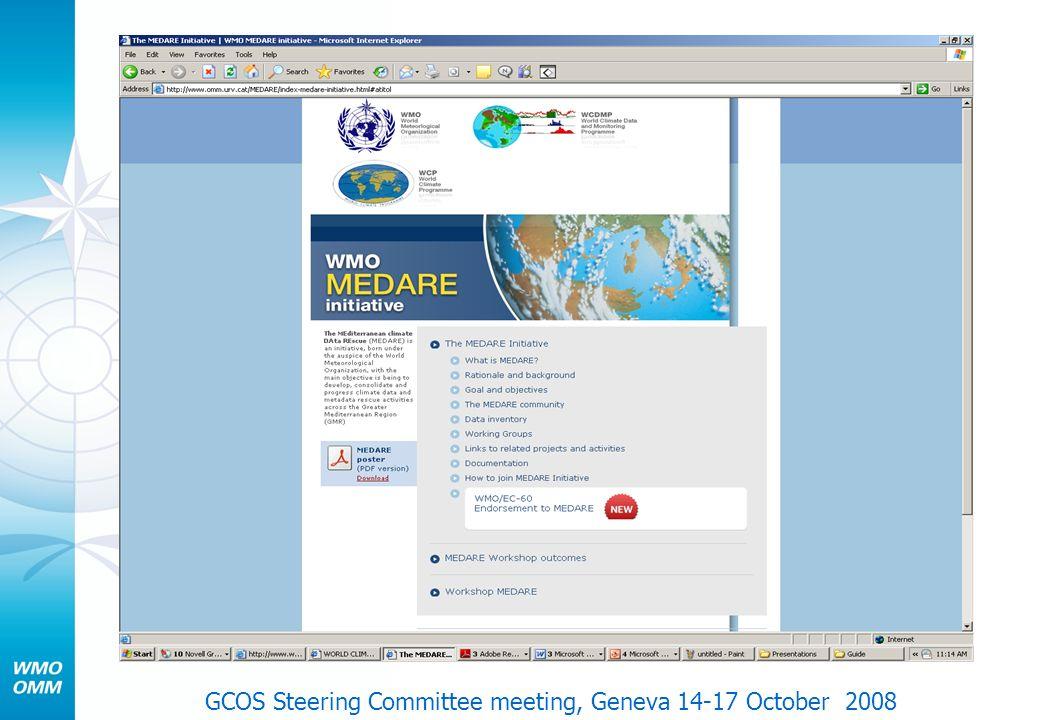 GCOS Steering Committee meeting, Geneva 14-17 October 2008