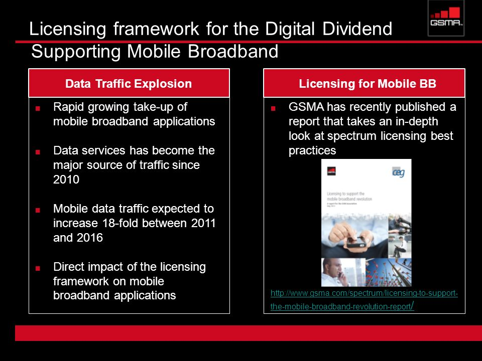 GSMA has recently published a report that takes an in-depth look at spectrum licensing best practices http://www.gsma.com/spectrum/licensing-to-suppor