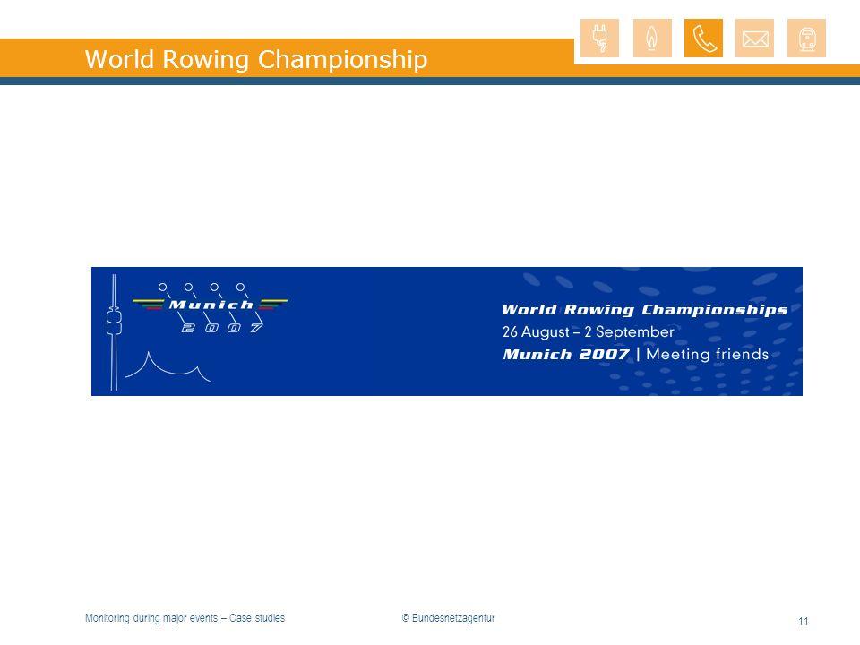 Monitoring during major events – Case studies 11 World Rowing Championship © Bundesnetzagentur