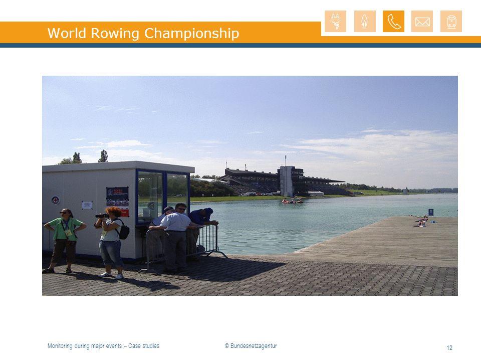 Monitoring during major events – Case studies 12 World Rowing Championship © Bundesnetzagentur