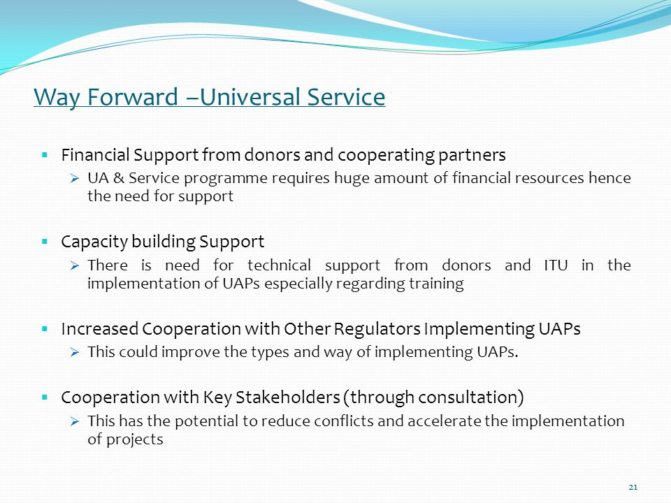 Constraints Faced in Implementing US Progms 1.