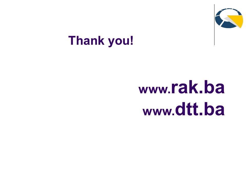 www. rak.ba www. dtt.ba Thank you!