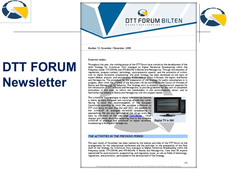 DTT FORUM Newsletter